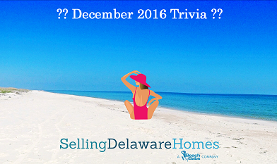 Monthly Trivia Answers For BeachByBabs Real Estate Monthly E-Newsletter – December 2016