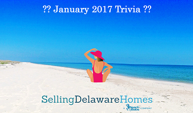 Monthly Trivia Answers For BeachByBabs Real Estate Monthly E-Newsletter – January 2017