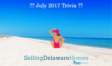 Monthly Trivia Answers For BeachByBabs Real Estate Monthly E-Newsletter – July 2017