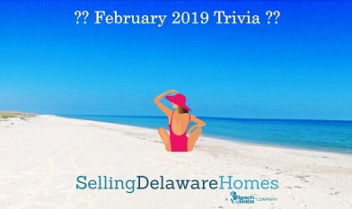 Monthly Trivia Answers – February 2019